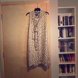 Printed silk work dress